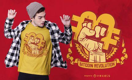 Diseño de camiseta de Bitcoin Revolution