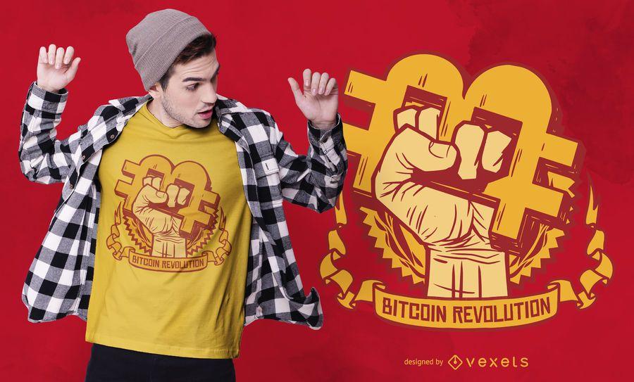 Revolução Bitcoin Design de t-shirt