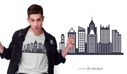 Diseño de camiseta Pittsburgh Skyline