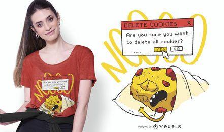 Eliminar diseño de camiseta divertida de galleta