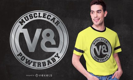 Muscle Car V8 T-shirt Design