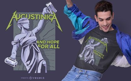 Augustinica Drinking T-shirt Design