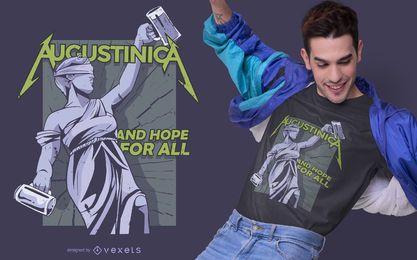 Design de t-shirt bebendo Augustinica