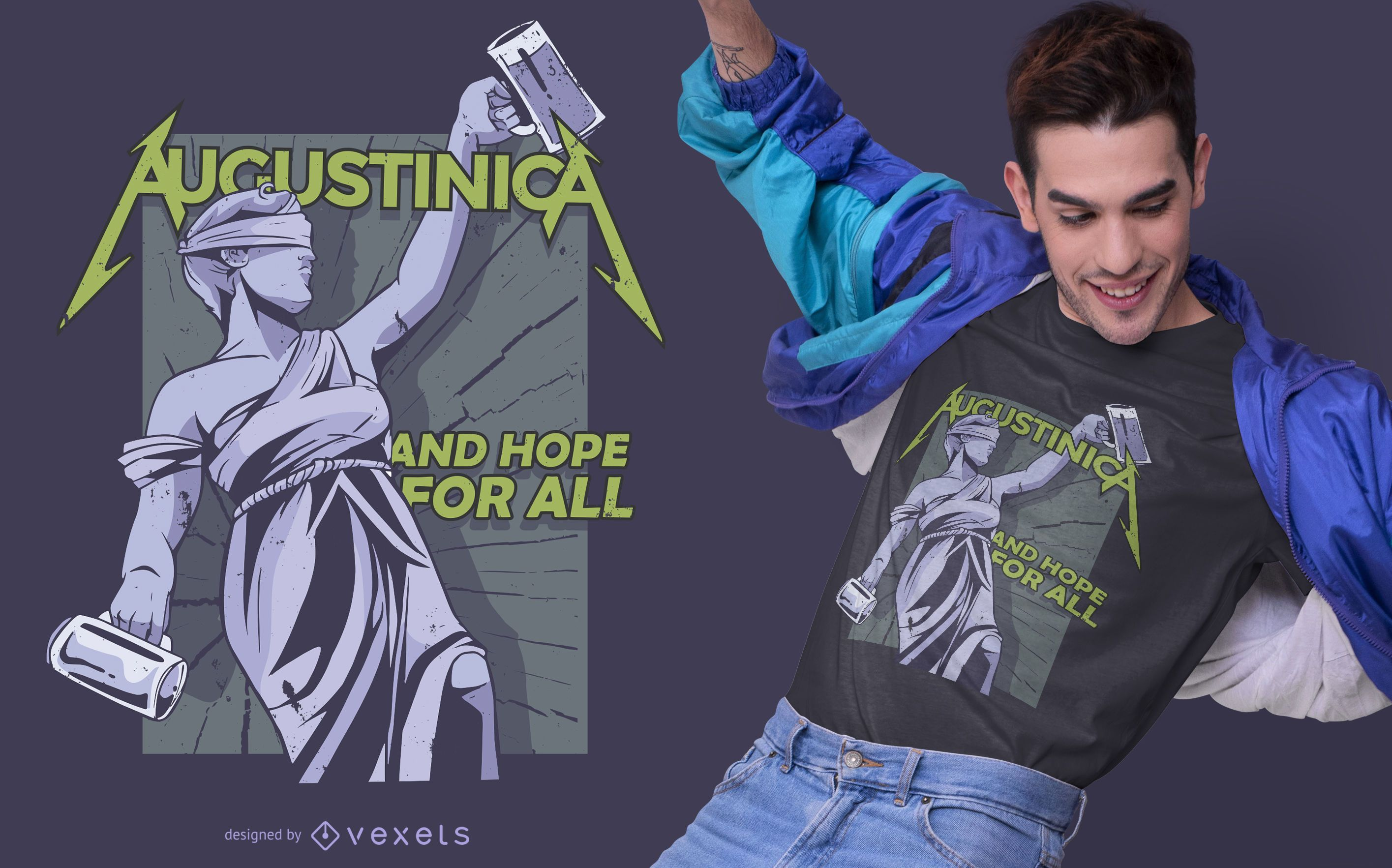 Augustinica Drinking T-shirt Design