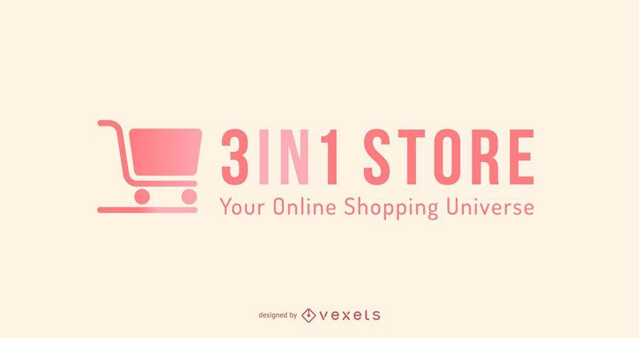 Design de logotipo de compras on-line