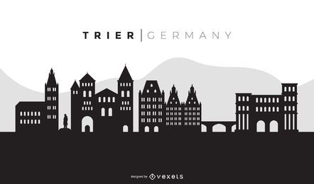 Trier Black Skyline Design