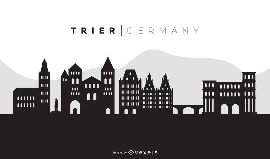 Trier Black Skyline Design