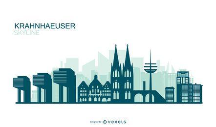 Kranhäuser Deutsches Skyline Design