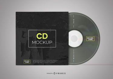 Maqueta de disco y funda de CD