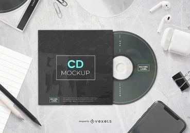 Composição de maquete de CD
