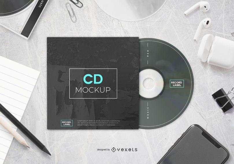 CD mockup composition