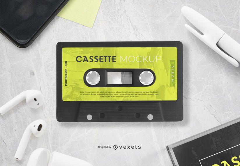 Diseño de maqueta de cinta de cassette