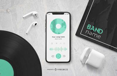 Player de música para smartphone
