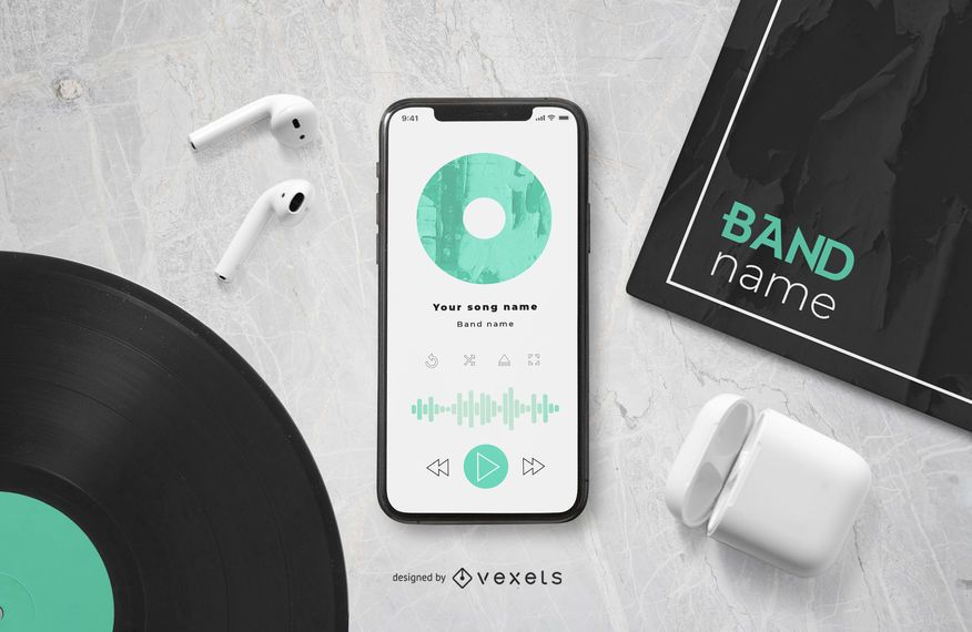 Music Player Smartphone Mockup