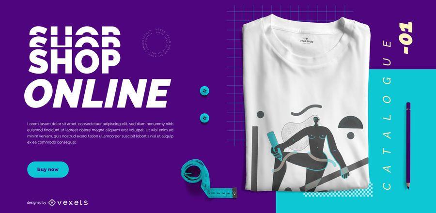 Handmade online shop slider template