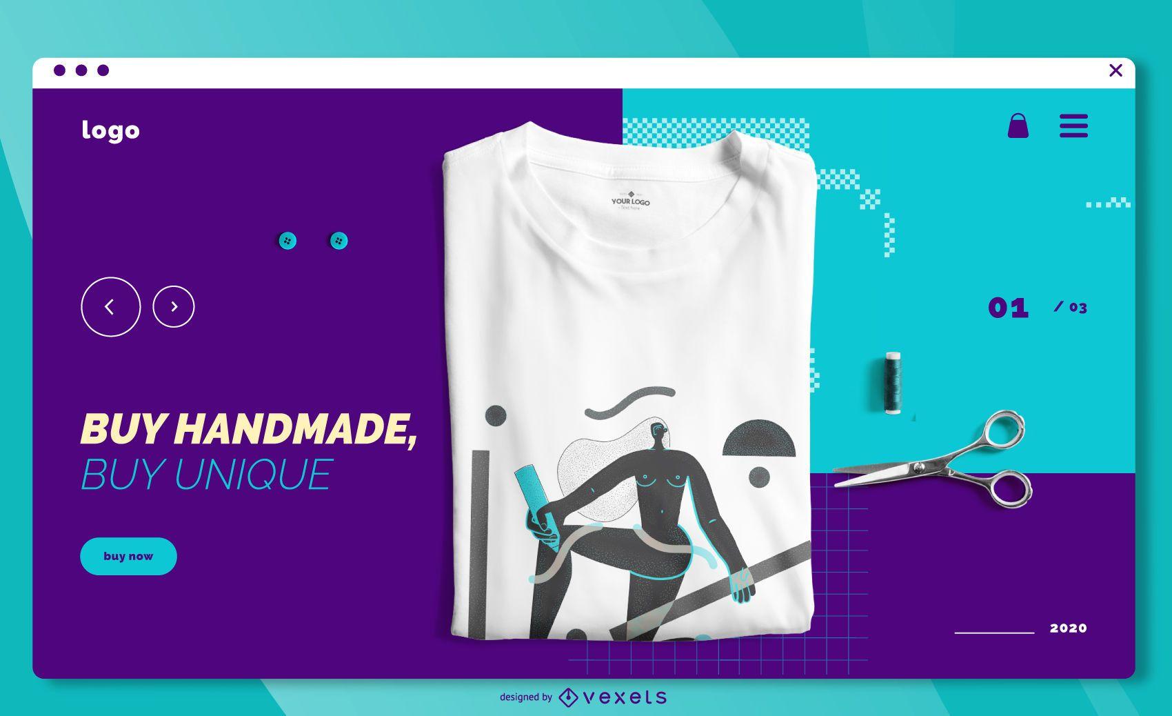 Página de inicio de tienda online hecha a mano