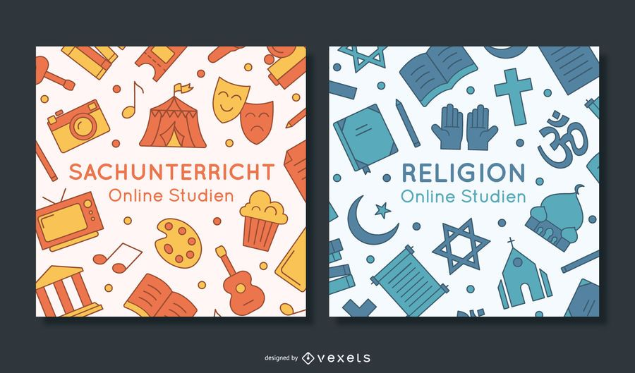 Pacote de banner para educação escolar na Alemanha