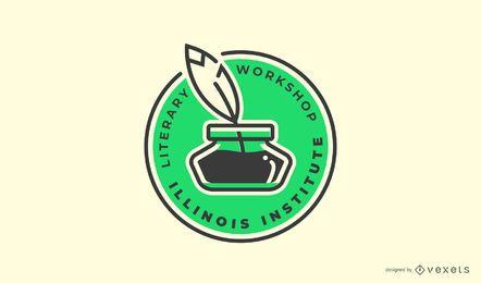 Modelo de logotipo de oficina literária