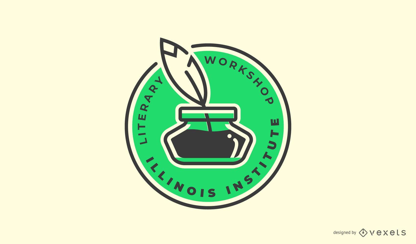 Literary workshop logo template