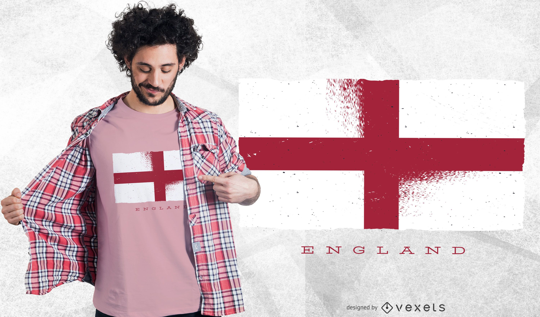 England Grunge Flag T-shirt Design