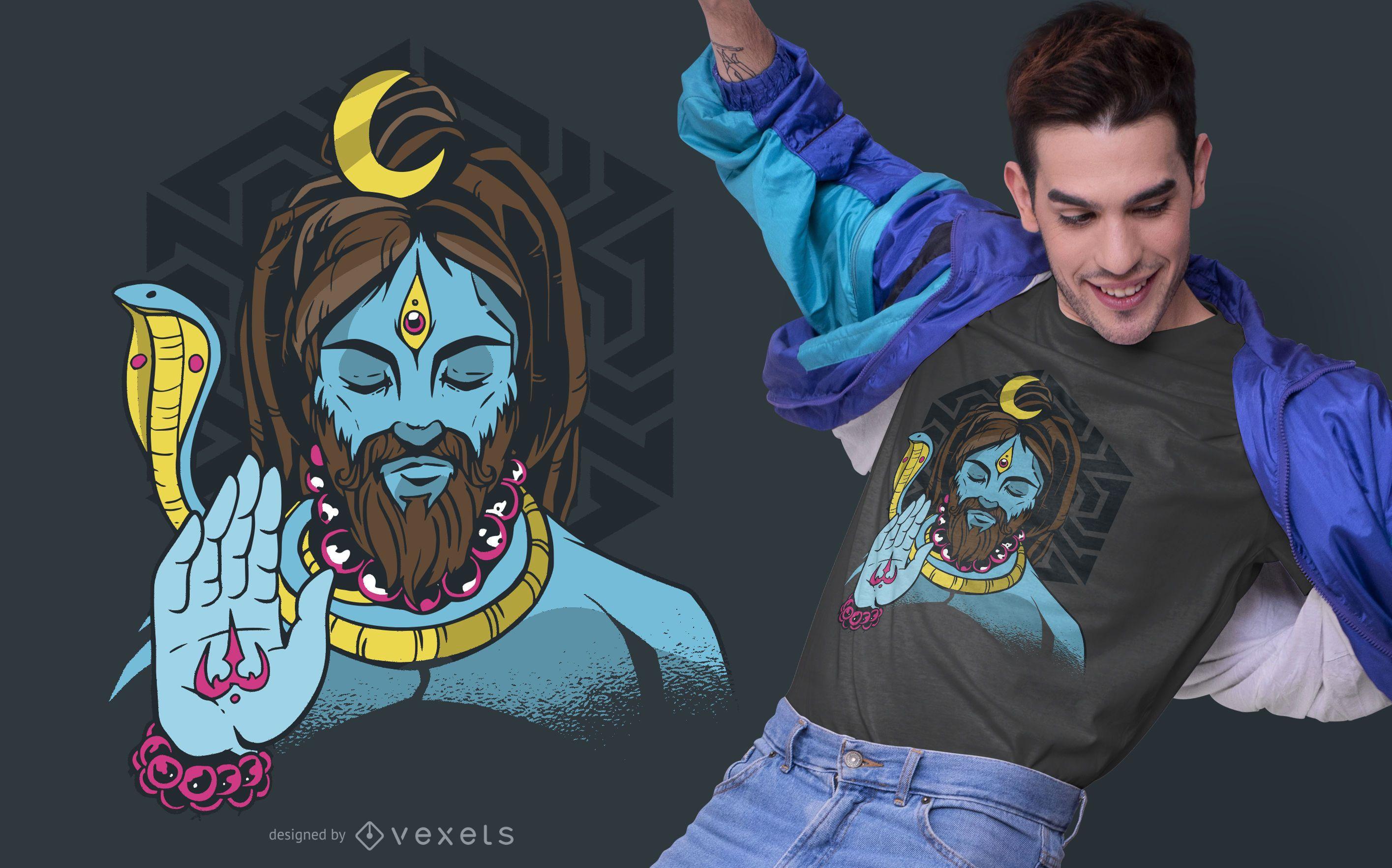Lord Shiva T-shirt Design