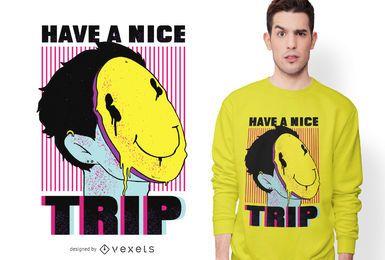 Design de t-shirt com texto de viagem ácida