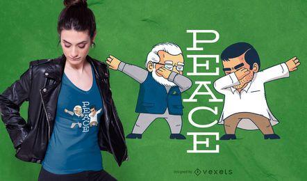Diseño de camiseta Peace Dabbing