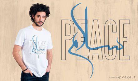 Projeto do t-shirt da paz de Salam