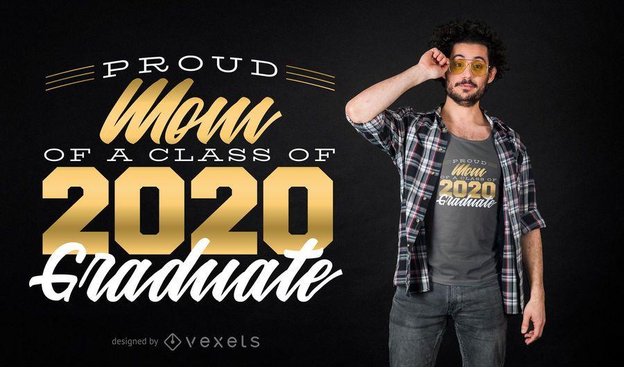 Proud Mom Graduate T-shirt Design