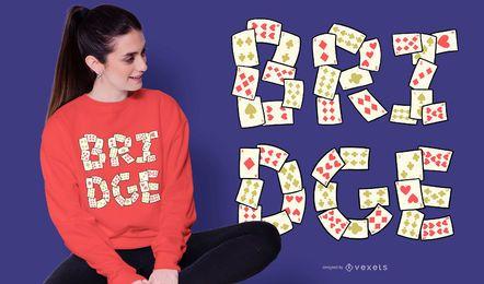 Design de t-shirt de rotulação de cartão de ponte