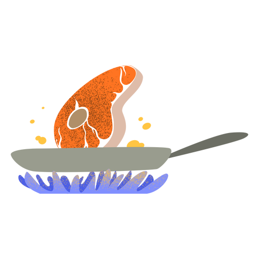 Carne frita con textura