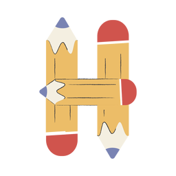 Lápices en forma de H
