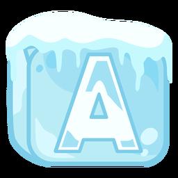 Letra a do cubo de gelo