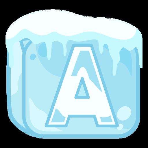 Letra de cubo de hielo a
