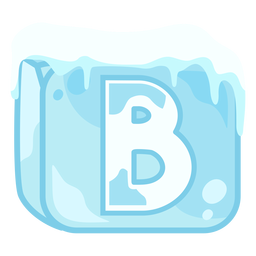 Ice cube letter b