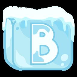 Letra de cubo de hielo b