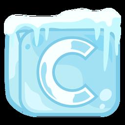 Cubo de hielo letra c