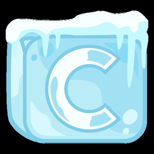 Letra c del cubo de hielo