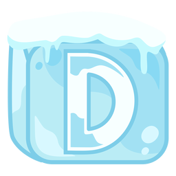 Ice cube letter d
