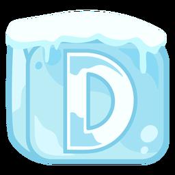 Letra de cubo de gelo d