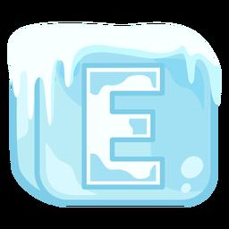 Cubo de hielo letra e