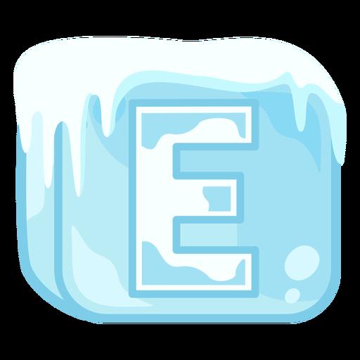 Ice cube letter e