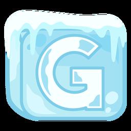 Letra de cubo de hielo g