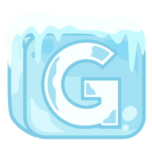 Ice cube letter g