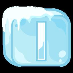 Cubo de hielo letra i