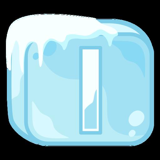 Letra de cubo de hielo i