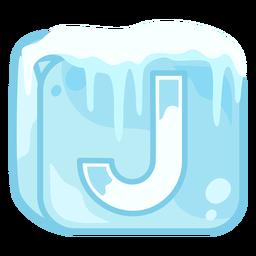 Letra de cubo de hielo j