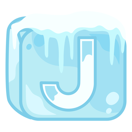 Ice cube letter j Transparent PNG