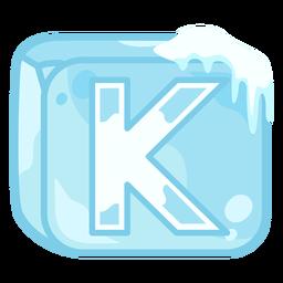 Letra do cubo de gelo k