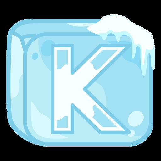 Letra de cubo de hielo k